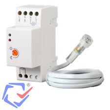 Maclean Sensor Interruptor crepuscular IP 65 Montaje carril DIN Detector LUX luz