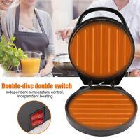 Doppel Crepes Platte Crepe Maker Wrapmaker Pfannkuchen Omelette Pfanne 1200W  DE
