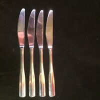 Reed & Barton ASHLAND Stainless Flatware 4 Modern Solid Knives 18/10