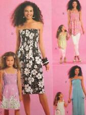 McCalls Sewing Pattern 5639 Misses Girls Dresses and Tops Summer One Size
