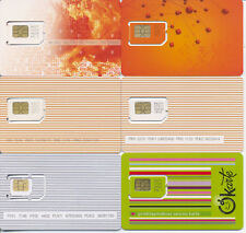 LATVIA / mobile operator LMT / 6 different GSM Sim-cards  / MINT