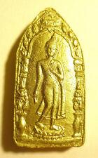 Moving Forward Buddha Phra Leela Thai Occult Charm Amulet 泰佛.灵牌.真品