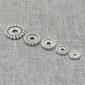 20pcs of 925 Sterling Silver Flat Round Spacer Beads for Bracelet