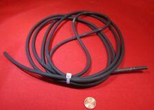 "Latex Rubber Rod, Black, 1/4"" Dia x 10 Ft Length"