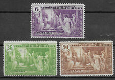 PHILIPPINES , USA ,1935 , COMMONWEALTH ISSUE , SET OF 3  STAMPS ,  PERF , MNG