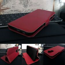 OULUX™ Genuine Leather Wallet  Red Case Sony Xperia 1