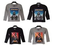 OFFICIAL STAR WARS Boys Long Sleeve Top / T-shirt 4 5 6 7 8 9 10 11 12 Years NEW