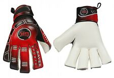Football Goalkeeper Gloves Cool 04 Kids Red Roll Fingersave Goalie Gloves
