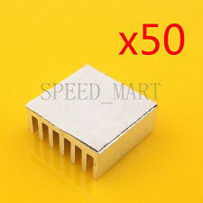 50 PCS Heat Sink with Thermal Adhesive for Computer CPU Memory Chip IC 14*14*6mm