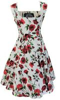 Hearts & Roses 50s Ditsy Rose Floral Swing Jive Dress