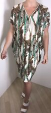 NEW Stretchy Dress Chain Print Batwinged Leopard Cool SilkySoft Fits Sizes 16-20
