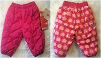 NWT The North Face Baby Girls 3-6 Months Pink Reversible Snow Pants Perrito $45