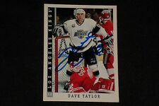 DAVE TAYLOR 1993-94 SCORE SIGNED AUTOGRAPHED CARD #389 LOS ANGELES KINGS