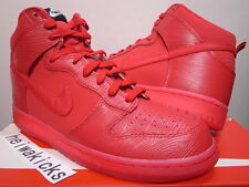 2014 NIKE DUNK HIGH RED WOOD GRAIN UNIVERSITY RED JAPAN ONLY 317982-617 size 10