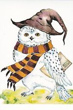 RARE Hedwig owl from Harry Poter by Nemarmeladova Russian modern postcard