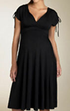 ALMOST MUM MATERNITY/BREASTFEEDING 2IN1 DRESS - BLACK SHORT SLEEVED
