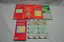 OPC Lot of 7 Maps of Europe Michelin Lonely Planet year 2000