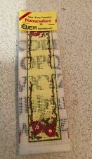 Dudley Dragon Bookmark Easy Needlepoint for Kids Simple Purple