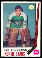 1969 70 OPC O PEE CHEE HOCKEY #197 KEN BRODERICK NM MINNESOTA NORTH STARS WILD