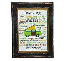 Camping relaxes presión póster a4 bus Camper Caravan veneno annesvea typo decorativas RV