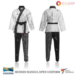 MUDOIN Hangul Taekwondo Open Uniform WTF Poom TKD Martial Arts Akido Hapkido