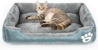 Calming Dog Bed Warming Washable Rectangle Sleeping Orthopedic Sofa Pet Bed