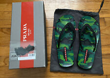 Prada Mens Flip Flop Sandals Size 12 US 11.5 uk Size 45-46 Euro Pre-owned Camo