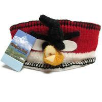 Angry Bird Wool Knit Winter Hat Headband Shangri La Nook Handmade in Nepal