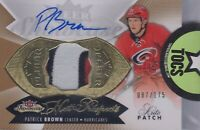 Patrick Brown 2014-15 Fleer Showcase Hot Prospects Patch/Auto 087/175 Hurricanes