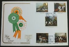 GB FDC 08/01/1991 Dogs Paintings by Stubbs on Cotswold, Crufts Birmingham SHS