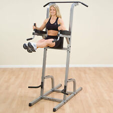 Body-Solid Vertical Knee Raise Machine - with Lat Pull-Up / Chin-Up Station