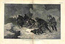 Lieutenant Dannenhauer Traineau Iakoutsk Yakoutsk Russie /Jeannette GRAVURE 1882