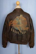 Vtg AVIREX A-2 'Sack Time' USAAF Flight Leather Jacket XL
