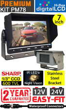 "Heavy Duty 7"" Dash Monitor and polished Stainless Steel Bracket Reversing camera"