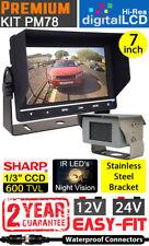 """Heavy Duty 7"""" Dash Monitor Y Soporte De Acero Inoxidable Pulido cámara de marcha atrás"""