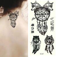 Temporäres Tattoo Wolf Traumfänger Design Temporary Klebetattoo Körperkunst