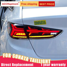 For Hyundai Sonata 2018-2019 ALL LED Taillights Assembly Red/Dark LED Rear Lamps