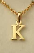 SOLID  9K  9ct  YELLOW  GOLD  INITIAL  K  LETTER  ALPHABET PENDANT