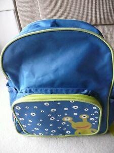 ALIEN BACKPACK SCHOOL BAG RUCKSACK BLUE GREEN VERY GOOD CONDITION BOYS KIDS