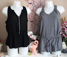 "Lot vêtements occasion femme - Hauts "" Spot - See U Soon "" - T : 38 / 40"