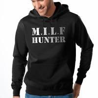 MILF Hunter Adult Fun Pornstar Sprüche Comedy Kapuzenpullover Hoodie Sweatshirt