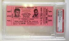 1965 Ali Vs Liston Full Ticket Psa 9 Mint