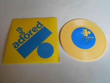 "The Adored  Tell Me Tell Me/ TV Riot Vinyl 7"" 45 RPM Record Yellow Vinyl"