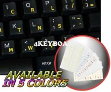 DVORAK SIMPLIFIED TRANSPARENT KEYBOARD STICKER YELLOW