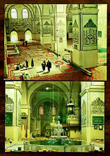 BURSA TURKEY Ulucami Mosque interior views 2 Color Postcards