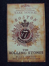 THE ROLLING STONES - Concert Poster - Boston 2002