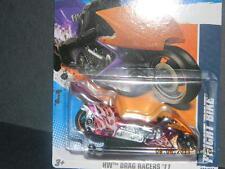 HW HOT WHEELS 2011 HW DRAG RACERS #4/10 FRIGHT BIKE MOTORCYCLE HOTWHEELS PURPLE