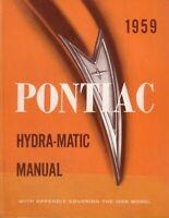 OEM Repair Maintenance Shop Manual Pontiac Hydramatic Transmission 1958-1959
