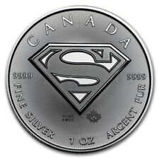 Canada 5$ Dollars Maple Leaf 2016 SUPERMAN 1 oz silver coin
