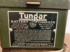 Vintage GENERAL ELECTRIC TUNGAR BATTERY CHARGER Cat 277153